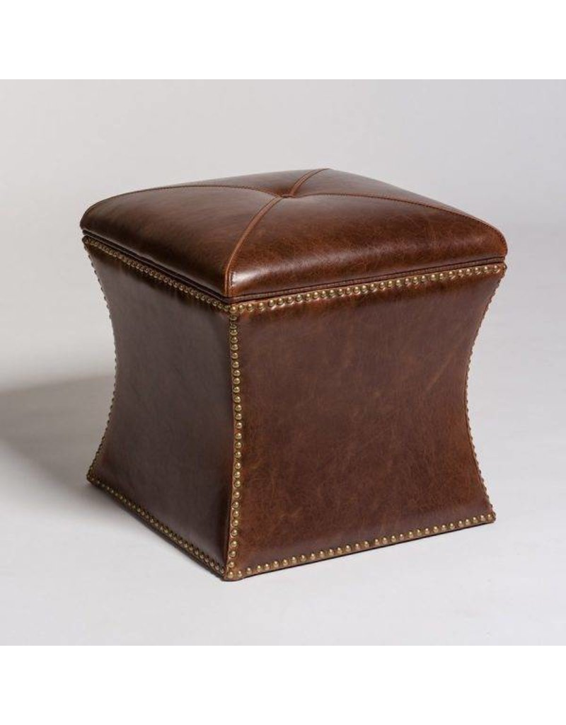 Manchester Flare Ottoman In Antique Saddle