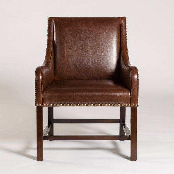 Manchester Occasional Chair in Antique Saddle and Dark Walnut ... - Occasional Chairs - Beckman's