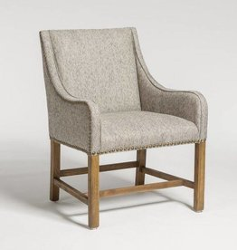 Manchester Occasional Chair in Diamond Pepper and Weathered Oak