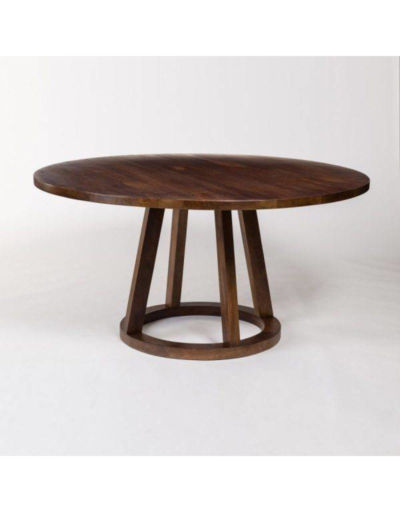 Mendocino Round Dining Table In Dark Chestnut 72