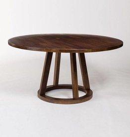 """Mendocino Round Dining Table in Dark Chestnut - 84"""""""