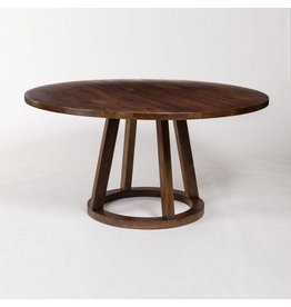 Mendocino Round Dining Table in Dark Chestnut - 84""