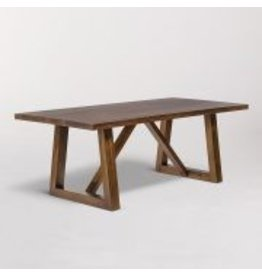 Mendocino Rectangular Dining Table in Dark Chestnut - 84""