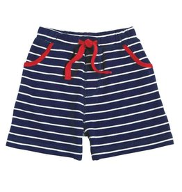 Striped Pull-On Shorts, Blue