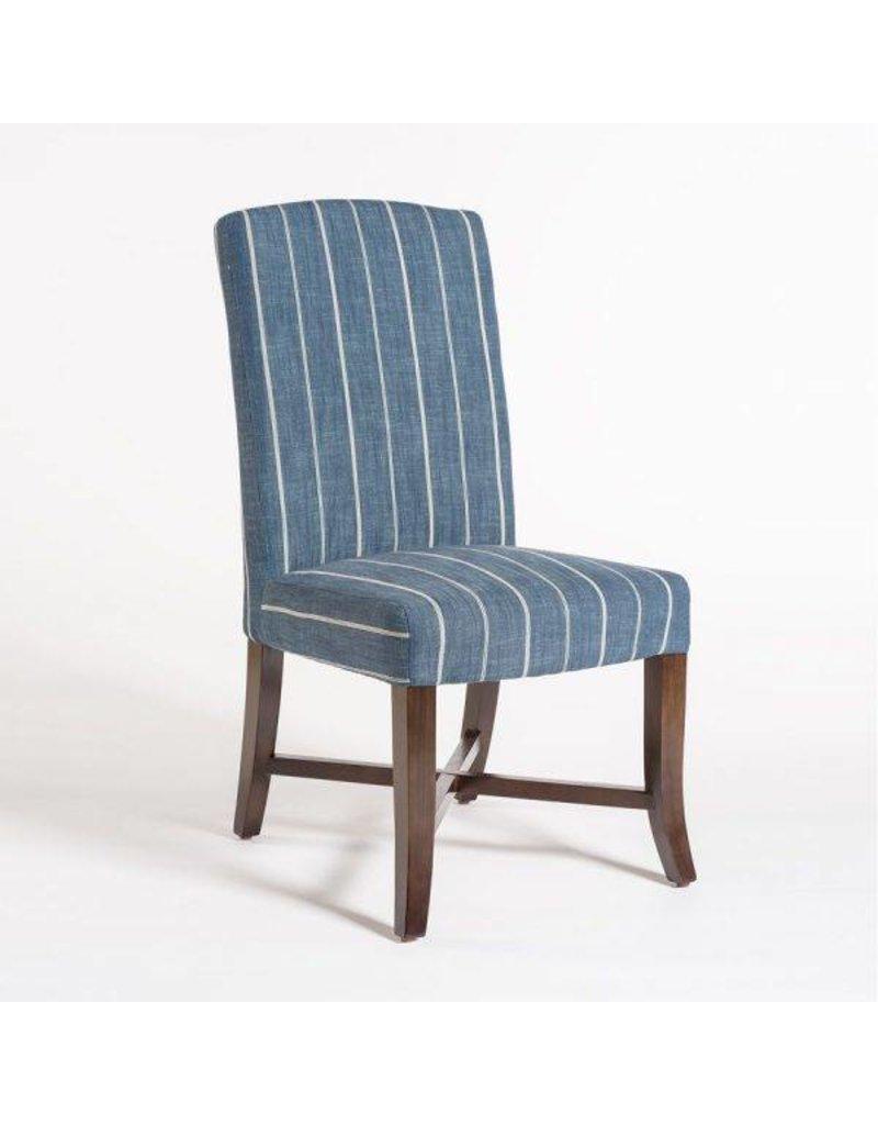 Mercer Dining Chair in Revere Indigo and Dark Walnut
