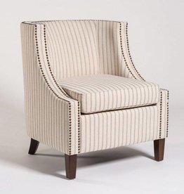 Montauk Occasional Chair in Denim Stitch and Dark Walnut
