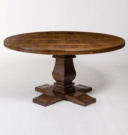 Napa Round Dining Table in Aged Sable - 72""