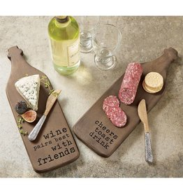 """Cheers"" Wine Shaped Board Set"