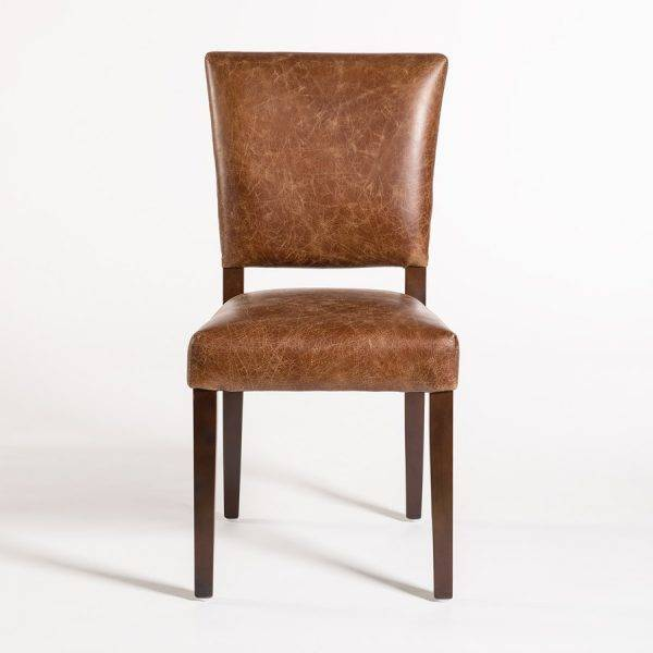 Richmond Dining Chair in Top Grain Distressed Clay Leather