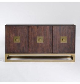 Westchester Sideboard in Walnut & Antique Brass