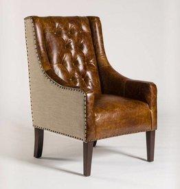 Wescott Occasional Chair in Antique Brompton and Khaki Herringbone