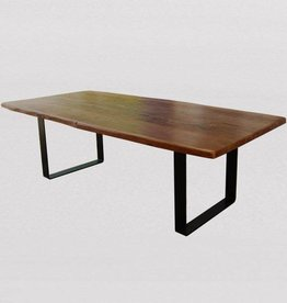 """Tahoe Live Edge Dining Table in Natural Finish - 84"""""""