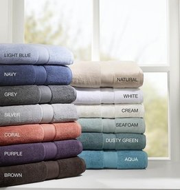 800GSM 100% Cotton Towel Set, Silver
