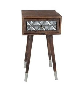 Privilege 1 Drawer Accent Table - Wood Iron
