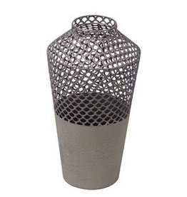 Privilege Small Metal Mesh Vase