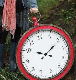 Metal Pocket Watch Wall Clock, Watermelon