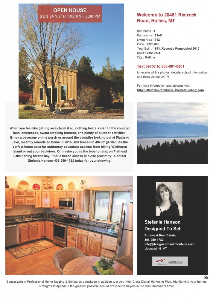 Open House - Sunday Jan 8th - 1-4PM