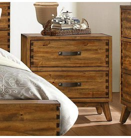 Homelegance Sorrel Night Stand, Rustic