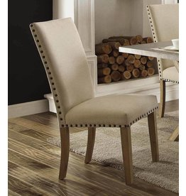 Homelegance Luella Side Chair, Weathered Oak
