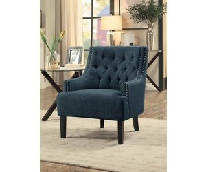 Amazing Homelegance Charisma Accent Chair Indigo Gmtry Best Dining Table And Chair Ideas Images Gmtryco