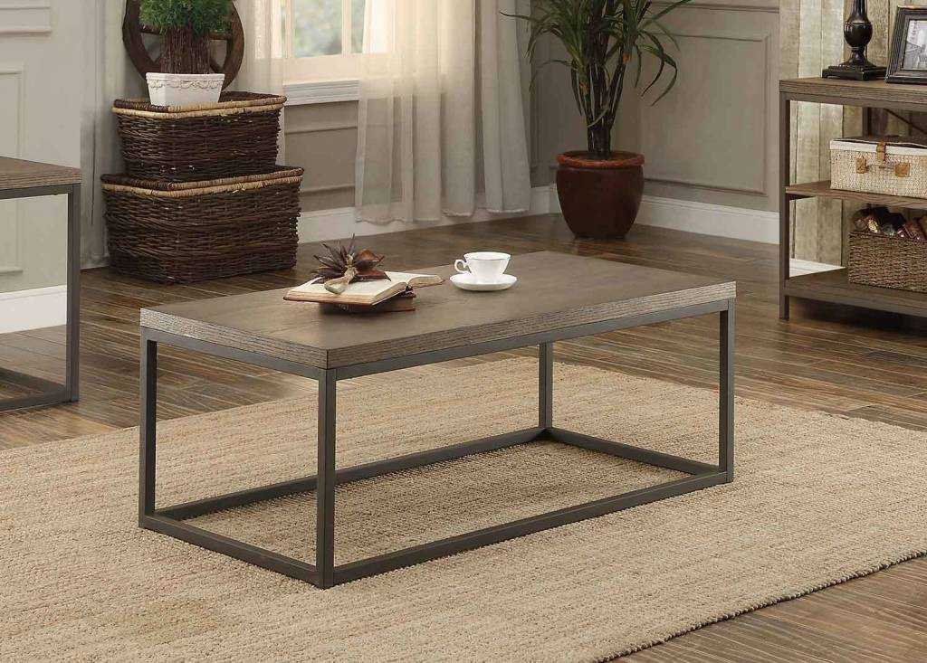 Farmhouse Style Coffee Table Solid Wood Rustic East End Collection Living Room Furniture