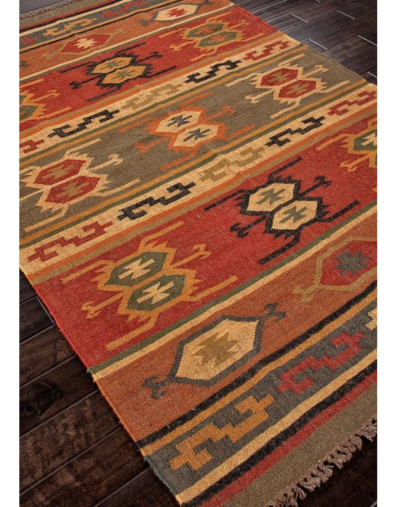 Bedouin Thebes 5x8 Rug, Cardinal & Mustard Gold