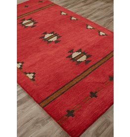 Cabin Fir 5x8 Rug, Red Ochre & Nine Iron