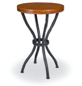 """Woodland Accent Table w/18"""" Round Copper Top"""
