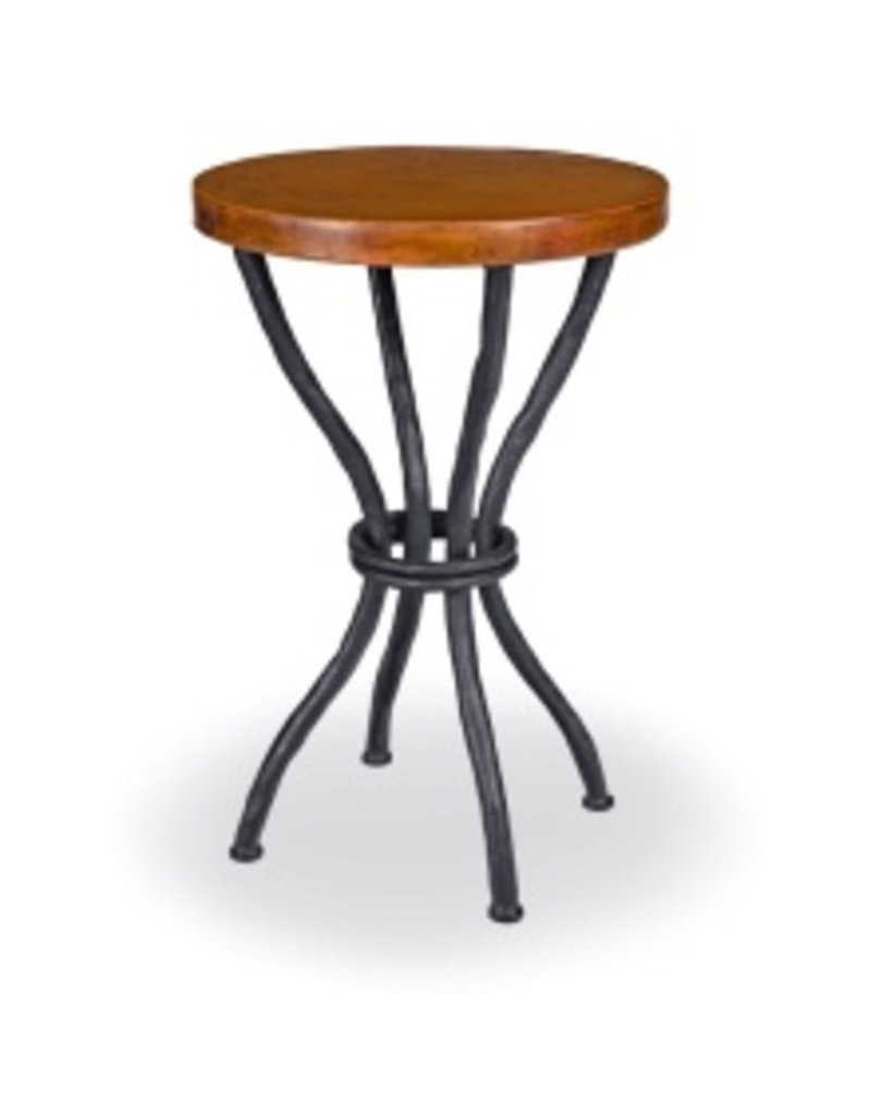 Woodland Accent Table W 18 Round Copper Top