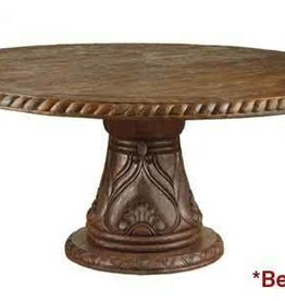 """Carved Round Dining Table 48"""""""