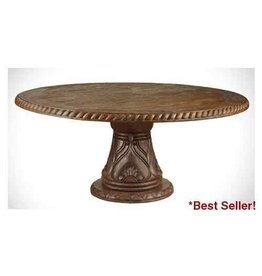 Carved Round Dining Table 48""