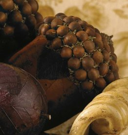 4.5 Inch Brown Acorn with Wood Bead Top