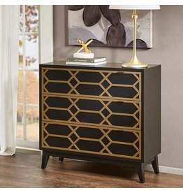 Maria Gold Lattice Accent Chest