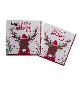 Hip Holiday Deer Paper Cocktail Napkin