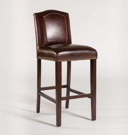 Cloister Bar Stool in Old Tannery Leather