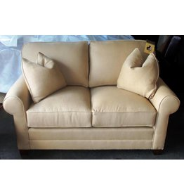 Bentley Fabric Leather Loveseat / KH