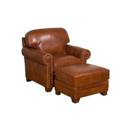 Bentley Fabric Leather Chair / KH