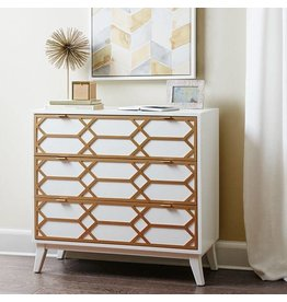 Gold Lattice Accent Chest