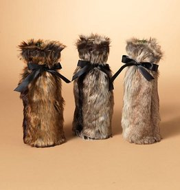 Faux Fur Wine Bottle Cover, Assorted