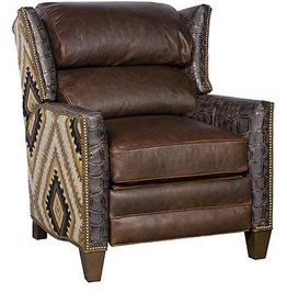 Santorini Fabric Leather Recliner