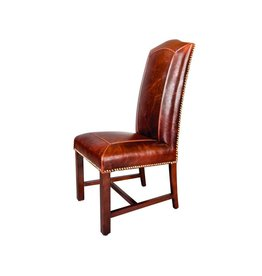 Cloister Side Chair-Old Tannery Leather