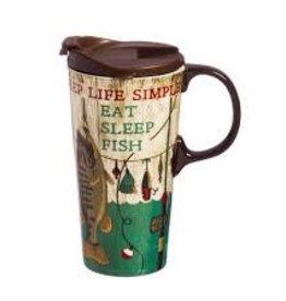 my evergreen Fish Travel Mug