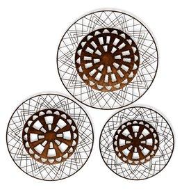 Circular Metal Wall Art/Set of 3