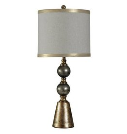 Cold River Glass Table Lamp/Ball Metal Accent