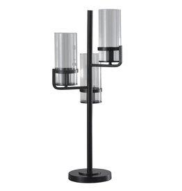 Uplight Metal Glass Table Lamp