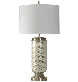 Steel Honeycomb Glass Table Lamp