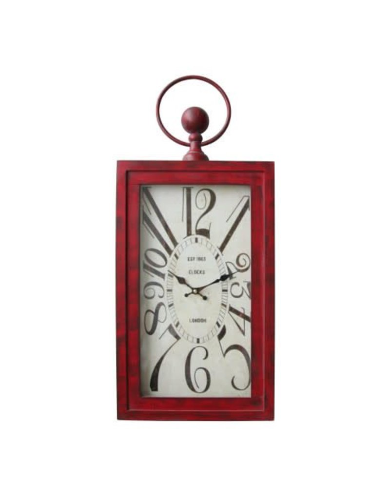 Yosemite Home Decor Wavin' Red Wall Clock