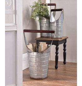 Galvanized Decorative Bucket--Large Only