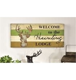 Welcome To The Hunting Lodge Sign