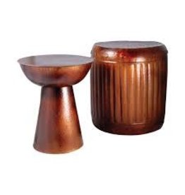 Truffle Table and Barrel Stool  S/2